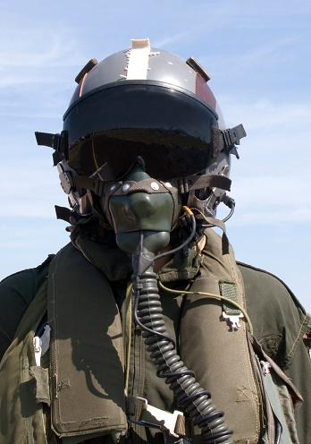 Photograph Of Pilot In Full Gear Stock Photo - Download Image Now