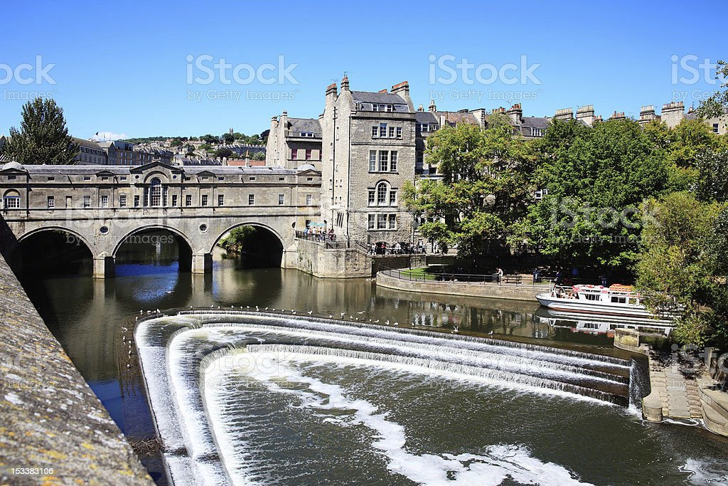 A photograph of Pulteney Bridge stock photo