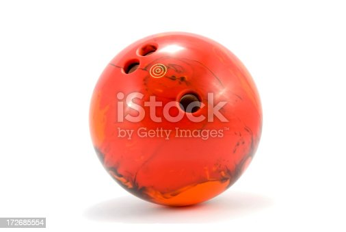 bowling ball isolated on white background
