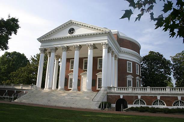 Photograph of Rotunda at the University of Virginia Jefferson's Rotunda at the University of Virginia in Charlottesville charlottesville stock pictures, royalty-free photos & images