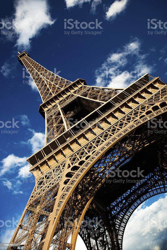 Photograph of the Eiffel Tower in Paris,France royalty-free stock photo