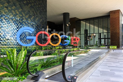 istock A photograph of the Google logo in the lobby of Google's new campus and office in Singapore 1162800109