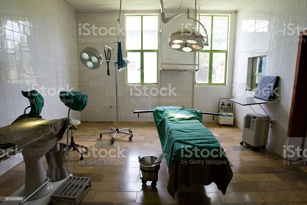 Photograph of the inside of an empty operating room stock photo