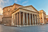 istock Photograph of the pantheon in Rome, Italy 182288822