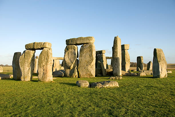 Photograph of the prehistoric Stonehenge monument in England stock photo