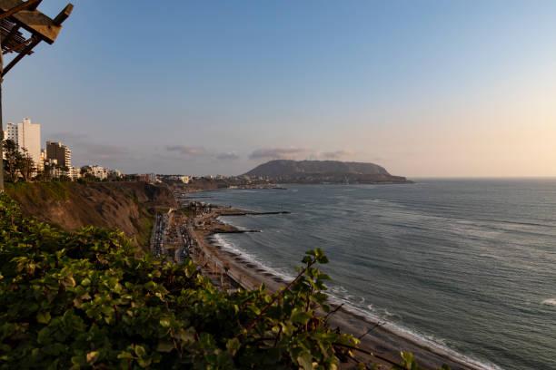 利馬南部海岸的照片。圖像檔