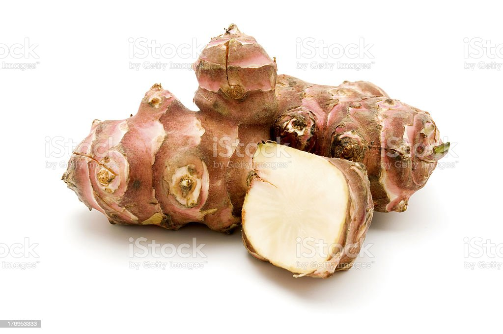 Photograph Of Two Jerusalem Artichokes On White Background Stock Photo Download Image Now Istock