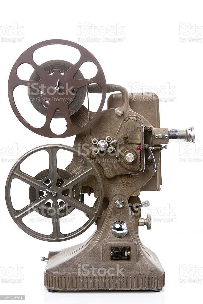 Photograph of vintage movie projector stock photo