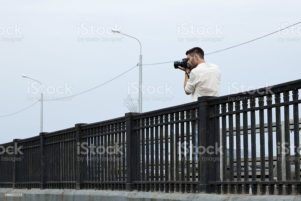 Photograph shoot from bridge royalty-free stock photo