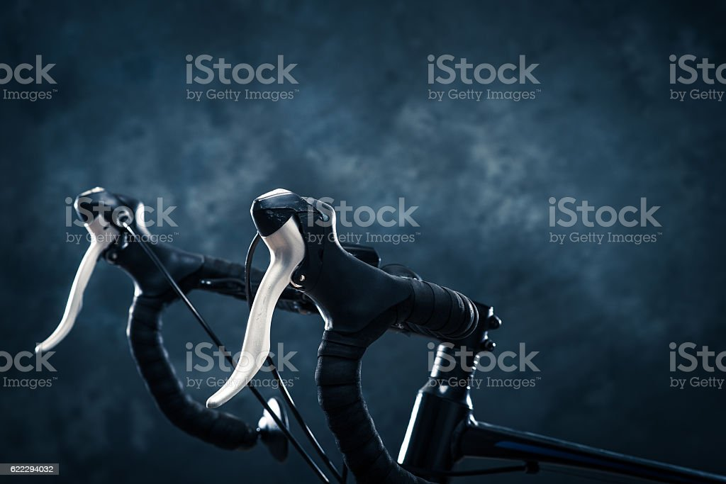 Photographed road bike in the studio - foto de acervo