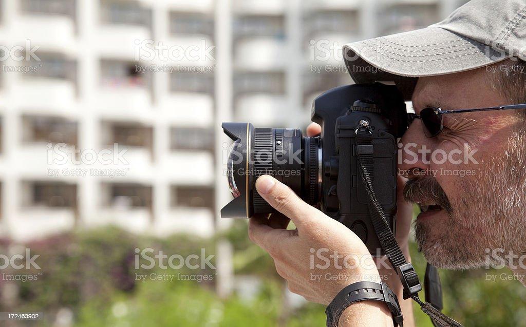 photographer and fisheye lens royalty-free stock photo