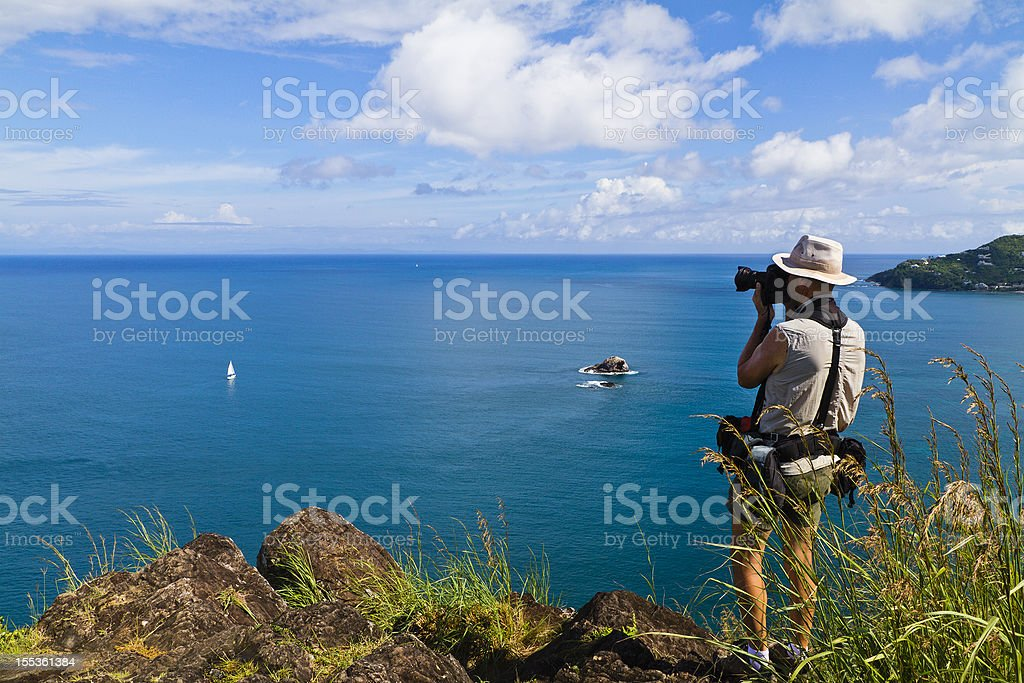 Photographer at Saint Lucia royalty-free stock photo