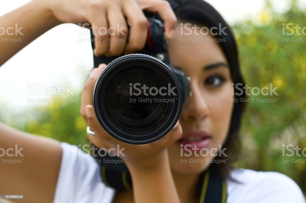 Photographer at shoot royalty-free stock photo