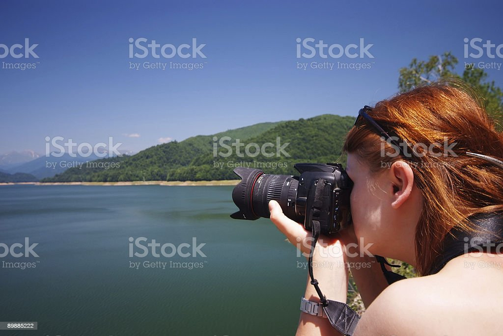Photographer at work royalty-free stock photo