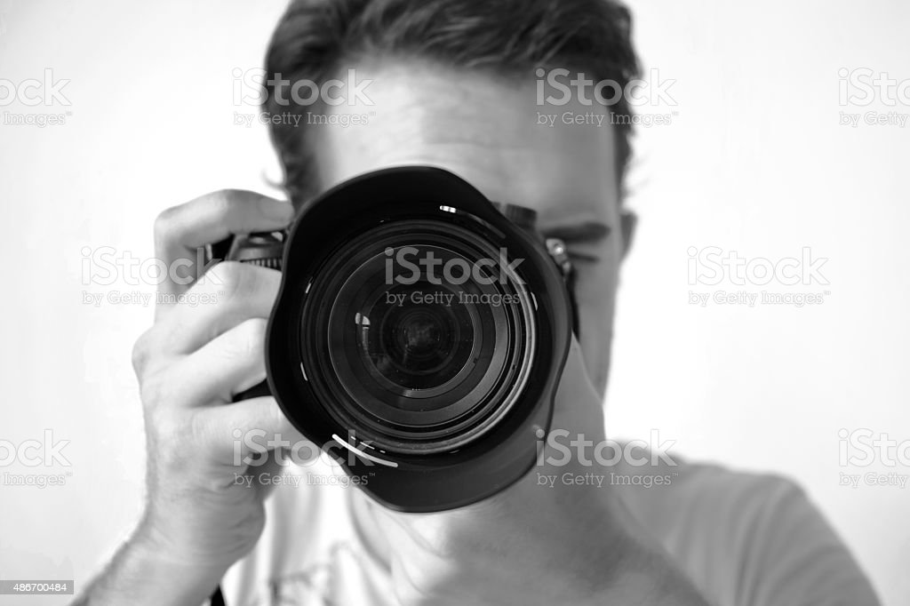 Photographer Black And White Filter stock photo