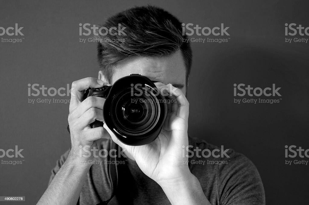 Photographer Black And White stock photo