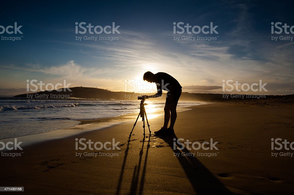 Photographer by the Sea stock photo