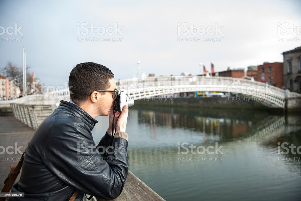 Photographer in Dublin royalty-free stock photo