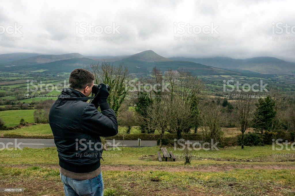 Photographer in nature royalty-free stock photo