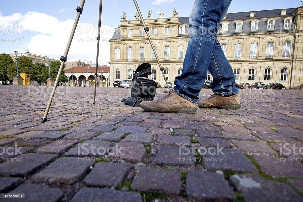 Photographer in Stuttgart stock photo