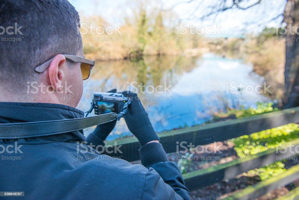photographer in the Irish countryside. royalty-free stock photo