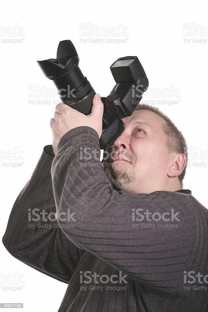 photographer isolated royalty-free stock photo