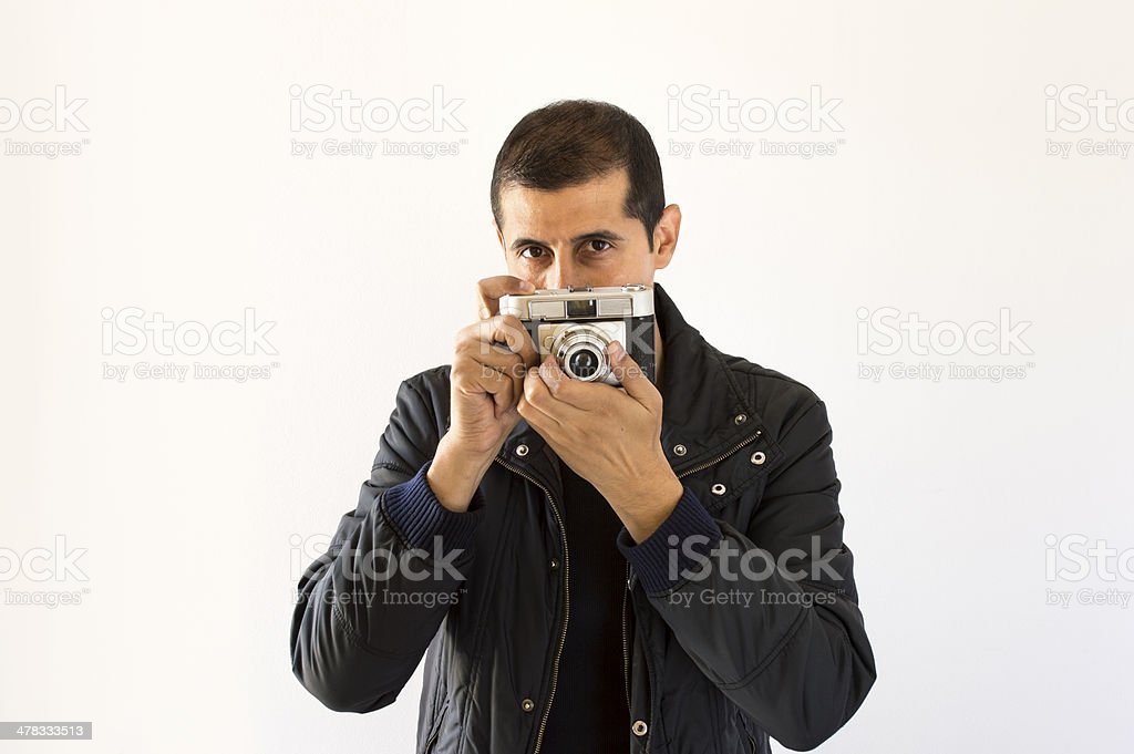Photographer looking royalty-free stock photo