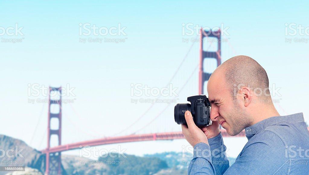 photographer on san francisco royalty-free stock photo