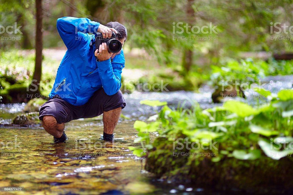 Photographer outdoor stock photo