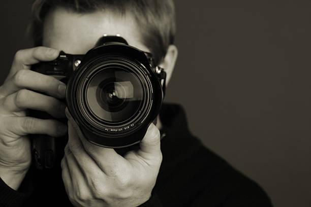 photographer - telelens stockfoto's en -beelden