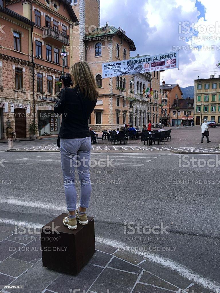Il fotografo - foto stock