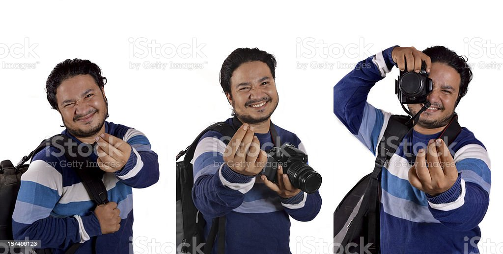 Photographer Requesting royalty-free stock photo