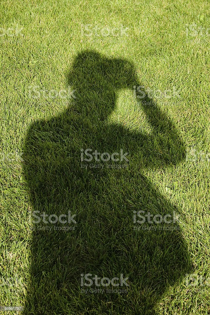 Photographer shadow royalty-free stock photo