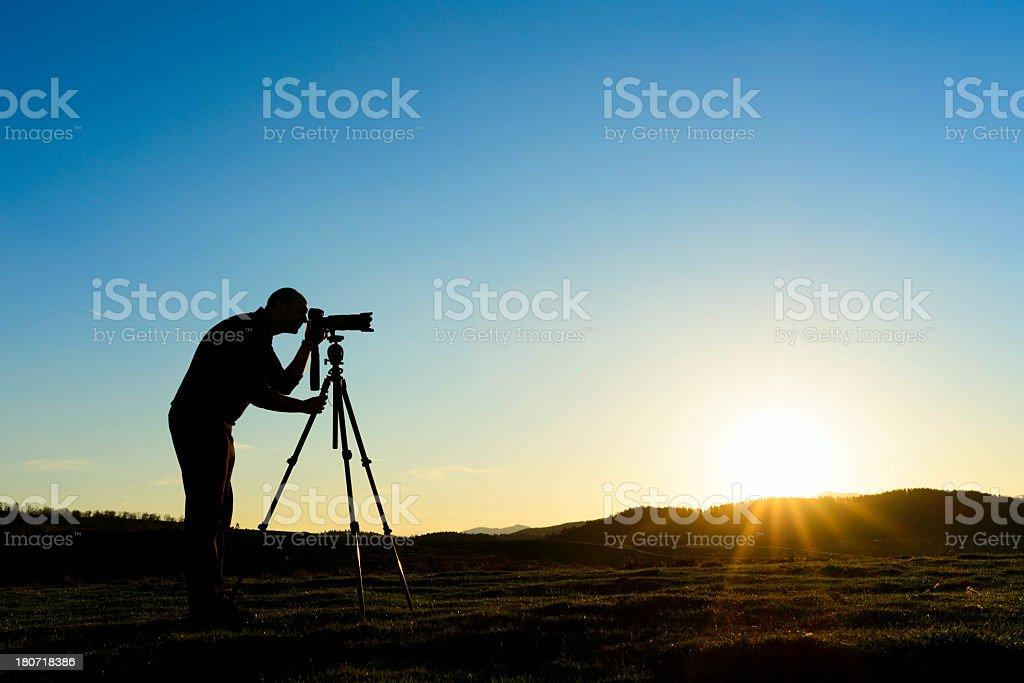 photographer silhouette royalty-free stock photo