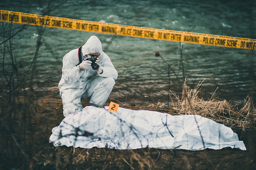 Photograph on the crime scene