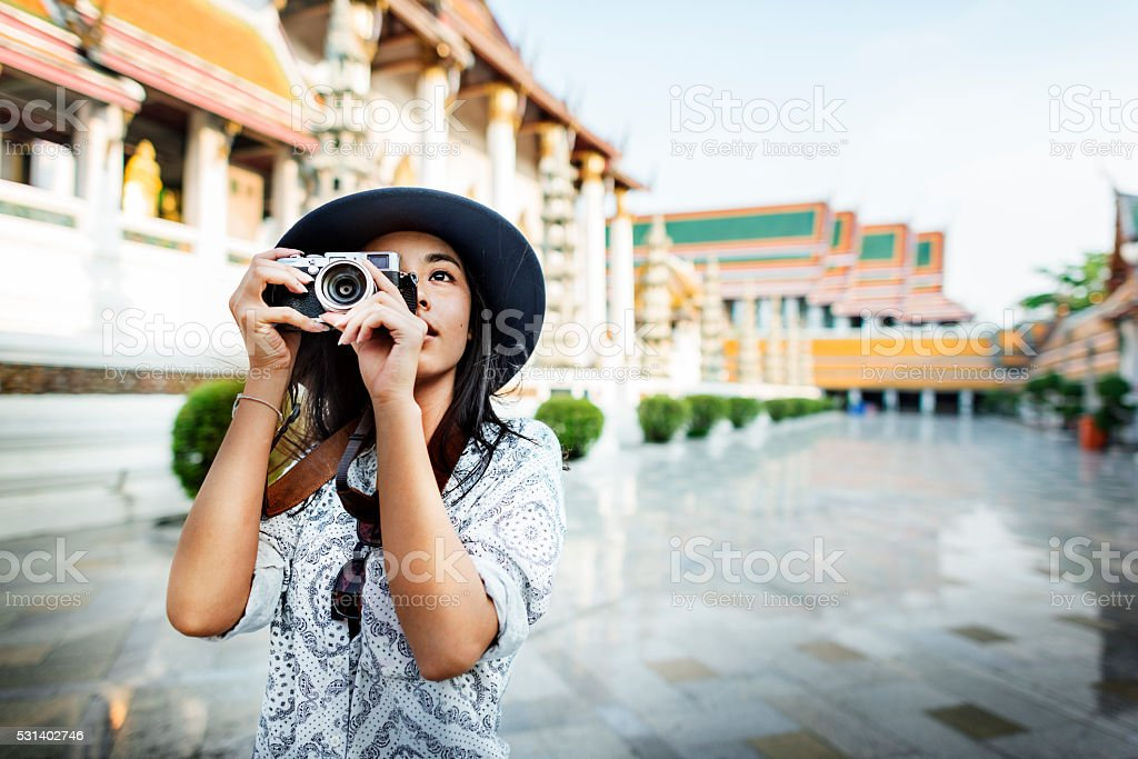 Photographer Travel Sightseeing Wander Hobby Recreation Concept stock photo