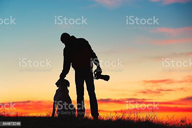 Photo of Photographer with his dog
