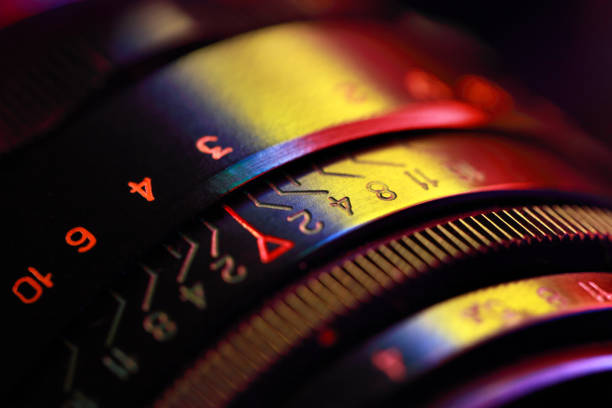 Photographic lens, close-up stock photo