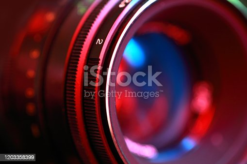 istock Photographic lens, close-up 1203358399