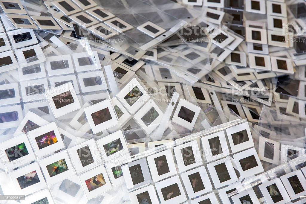 Photographic Slides In Protective Plastic Sheets Stock Photo Istock