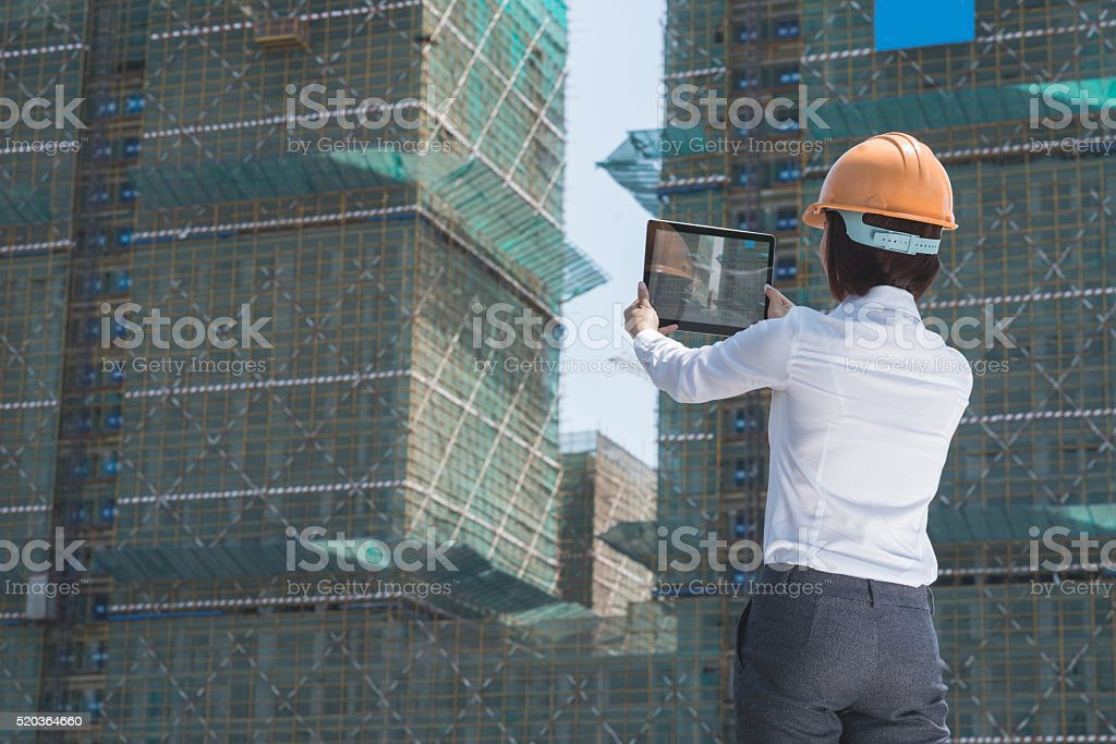 Photographing building stock photo