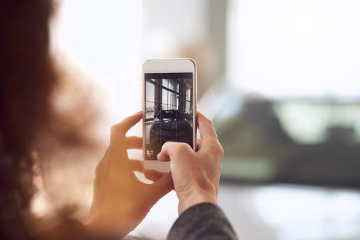 Auto Fotografieren Stockfoto und mehr Bilder von Am Telefon