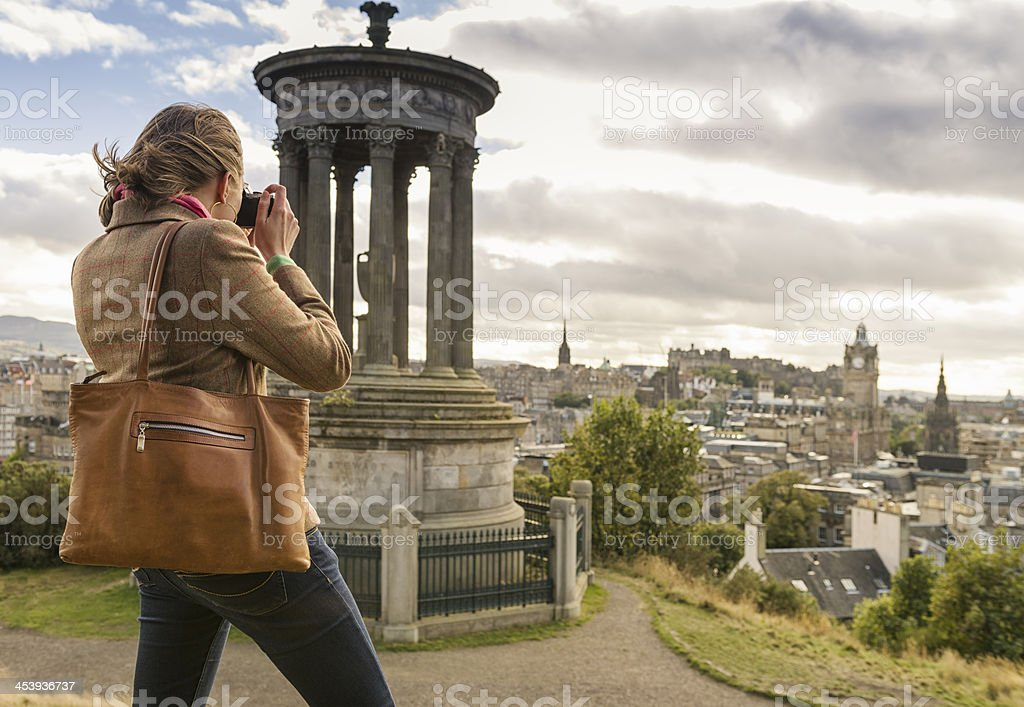 Photographing Edinburgh stock photo