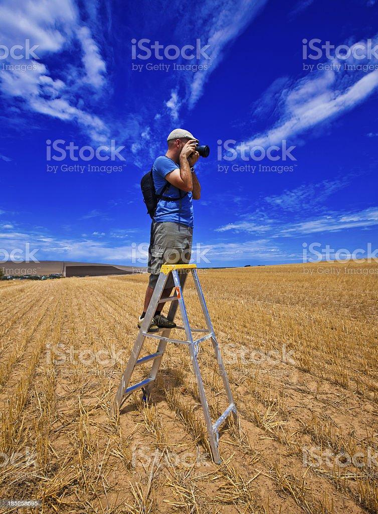 Fotografieren field Lizenzfreies stock-foto