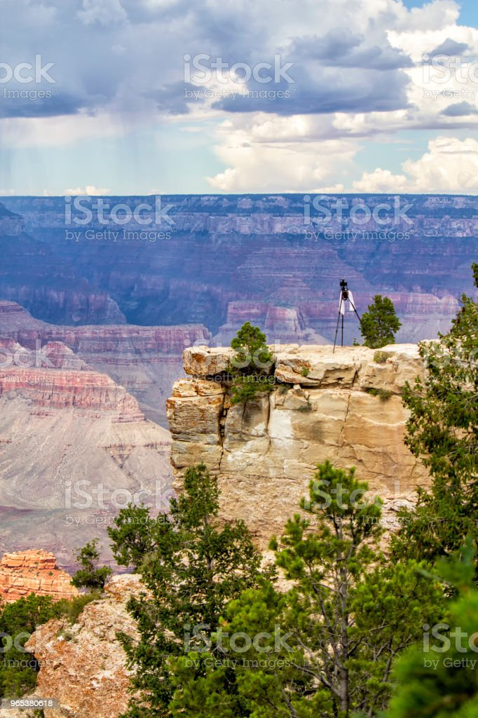Photographing Grand Canyon royalty-free stock photo