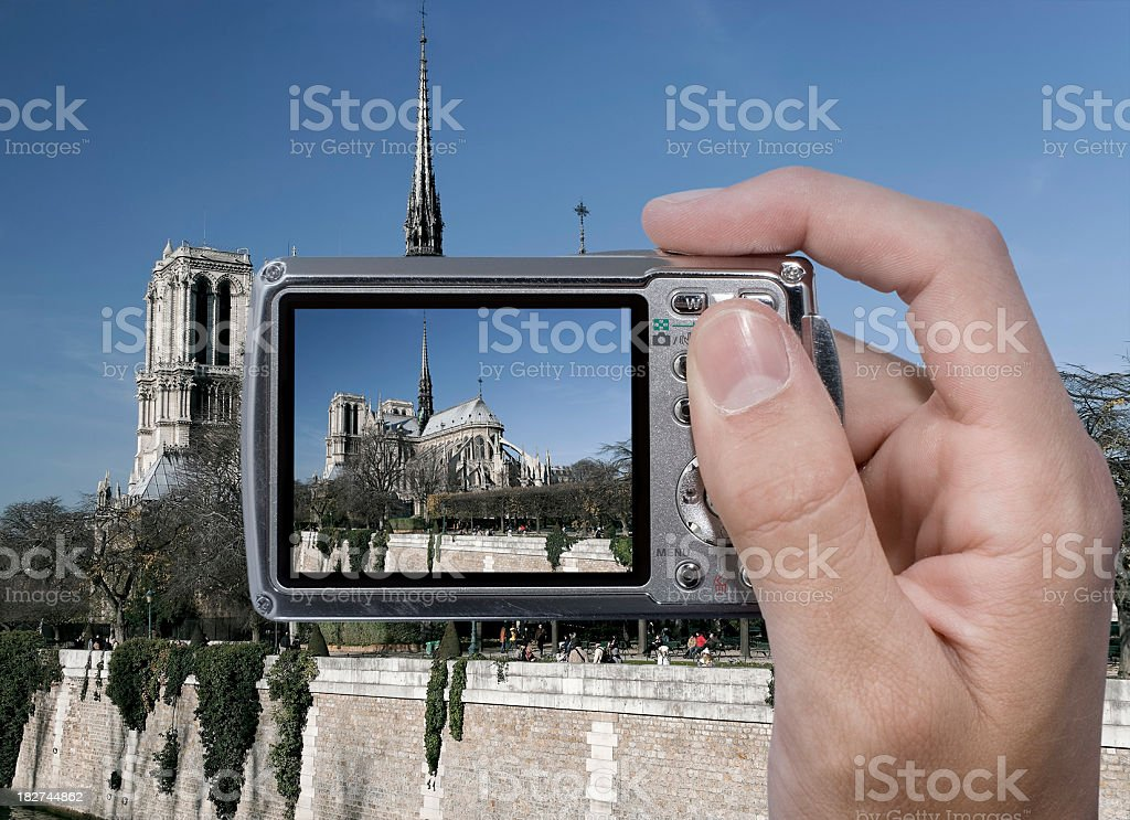 Photographing Notre Dame royalty free stockfoto
