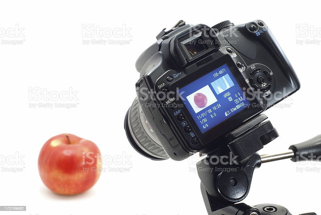 Photographing object in photo studio royalty-free stock photo