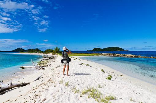 Photographing Sandy Island, Grenada