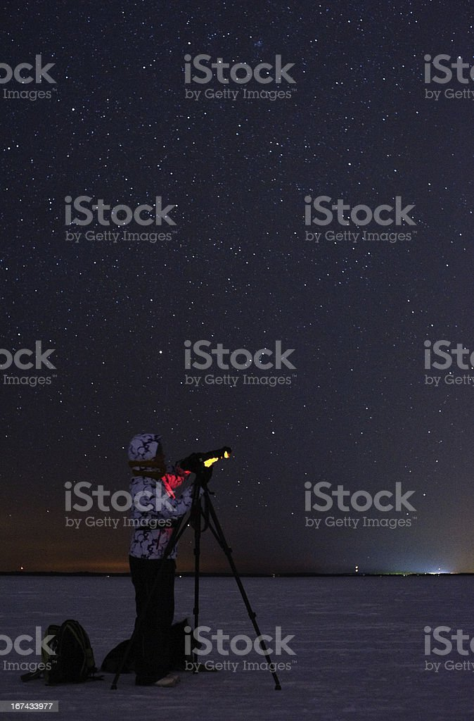 Photographing stars royalty-free stock photo