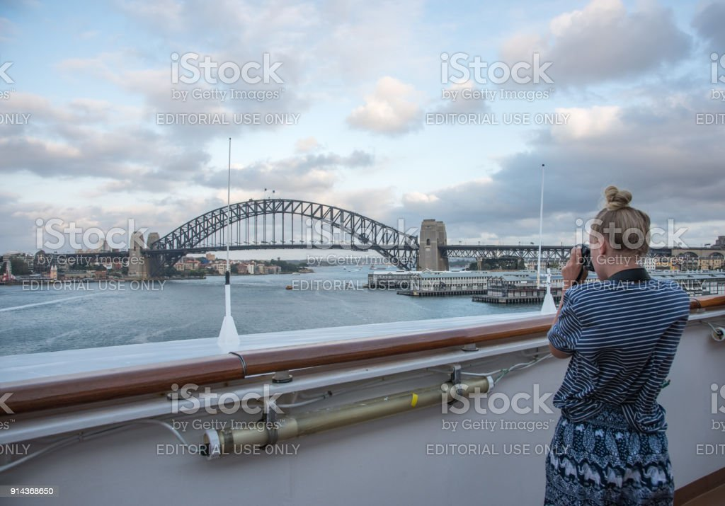 Photographing Sydney Harbour stock photo